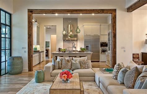 contemporary home  rustic elements connects