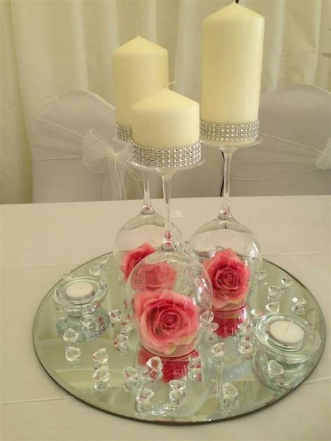 25 best ideas about wine glass centerpieces on wine glass candle holder glass