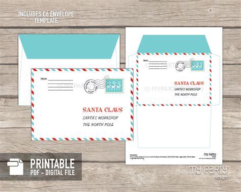 Printable Letter To Santa Kit With Envelope Template My Party Design Santa Envelope Template