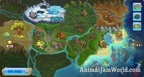 Mainan Play Sand Animal Paradise animal jam world map guide animal jam world