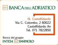 bance dell adriatico comune di castelfidardo scheda banca dell adriatico