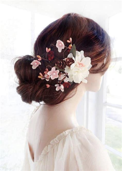 Wedding Hair Accessories Burgundy bridal hair clip flower wedding hair accessories