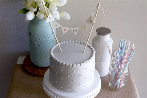 Wedding Banner Cake Topper by Burlap Alternative Bunting Banner Wedding Cake Topper Mr