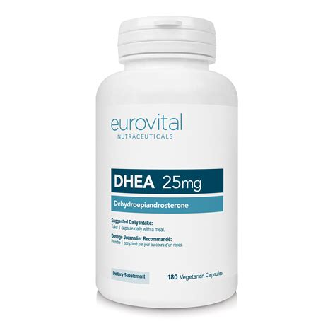 supplement dhea dhea 25mg 180 capsules eurovital dietary supplements