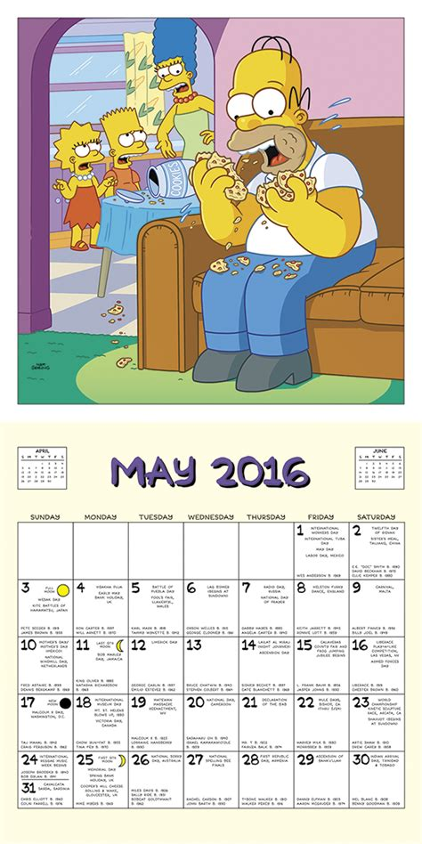 2018 the simpsons calendar year in a box the simpsons calendar 2016 tv shows