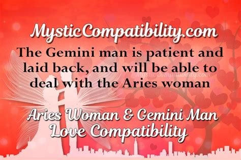 Aries man-gemini woman marriage compatibility by date