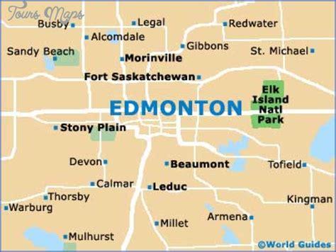 East Of Edmonton Map Toursmaps Com