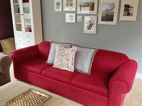 red sofa what color walls furniture shuffle storypiece