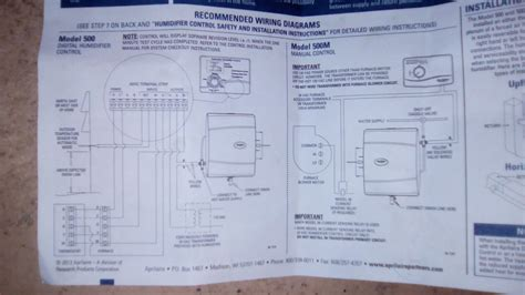 aprilaire 600 humidifier wiring diagram manual aprilaire