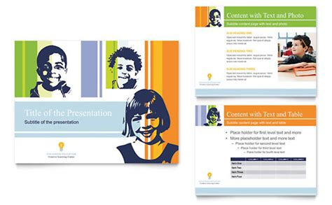 Non Profit For Children Presentation Templates Child Care Free Child Care Powerpoint Templates