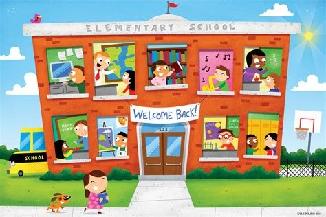 wallpaper cartoon school elementary school image 4248047 1600x1068 all for desktop
