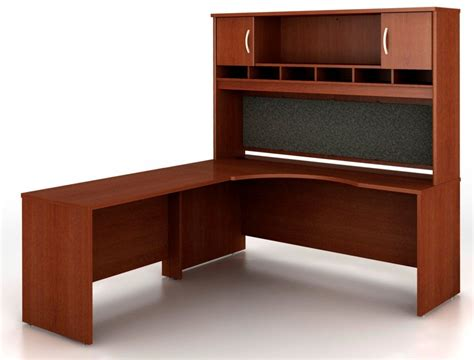 src002mal series c mahogany office set from bush