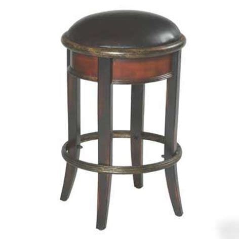 20 Bar Stools by 20 Bar Height Leather Stools In Vintage Cherry Finish