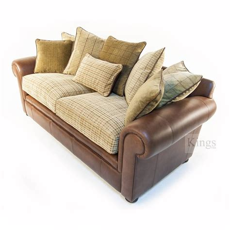 sofa with leather and fabric leather fabric sofa stunning leather sofa cushions and