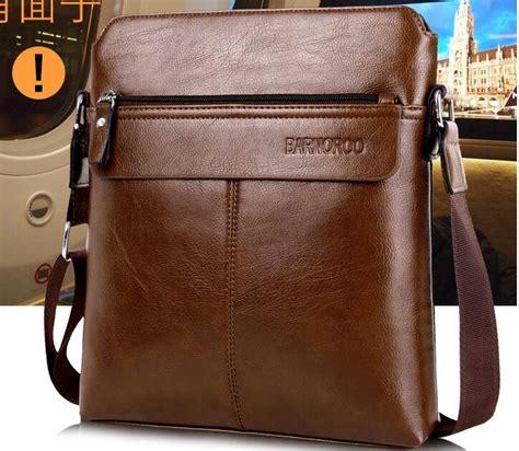 Leather Shoulerbag Tas Selempang Kulit Premium Waterproof barnoroo tas selempang pria khaki jakartanotebook