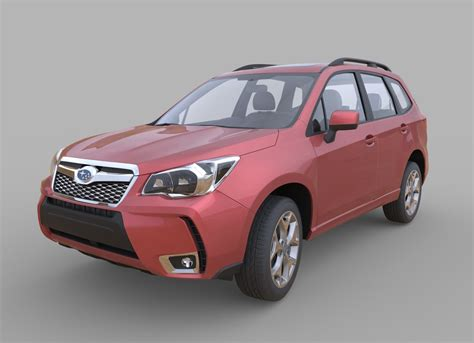 subaru forester model 3d subaru forester 2014 interior model