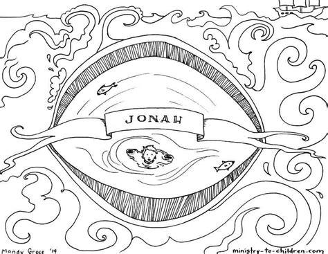 jonah coloring pages jonah bible coloring page