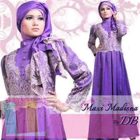 Maxi Kenyo Pink Muda Phasmina baju gamis pesta madisna navy s575 busana gaun pesta saten kombinasi brukat