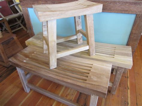 custom teak shower bench shower bench nanaimo furniture store teak patio