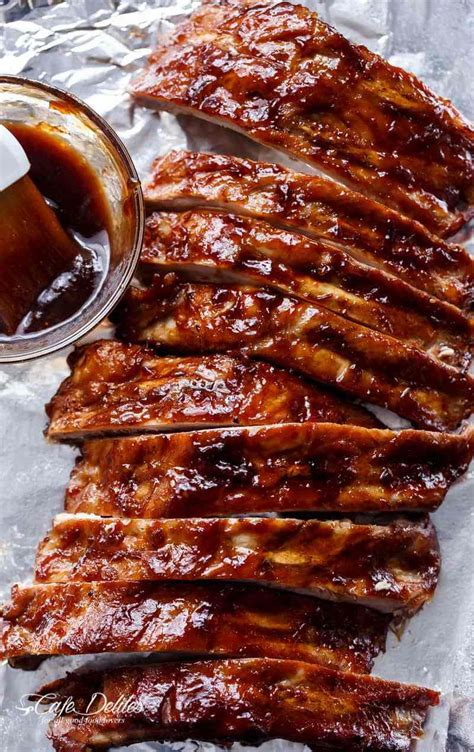 slow cooker barbecue spare ribs cafe delites