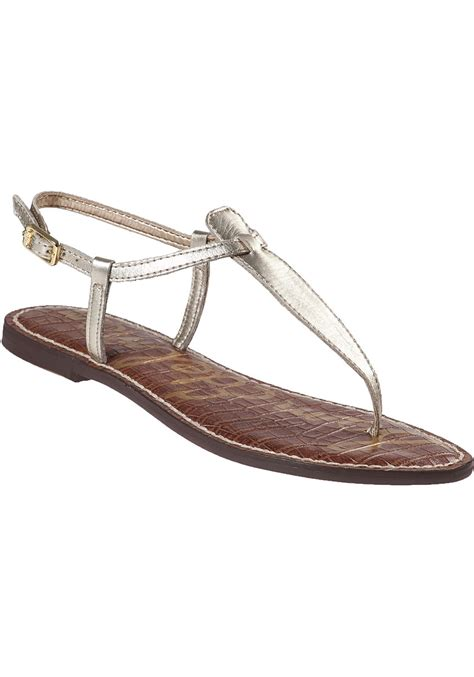 sam edelman gold sandals sam edelman gigi leather sandals in gold lyst