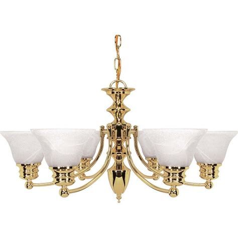 Brass Chandelier Glomar Nuwa 6 Light Polished Brass Chandelier With