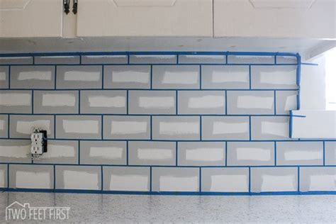 diy tile kitchen backsplash diy cheap subway tile backsplash hometalk
