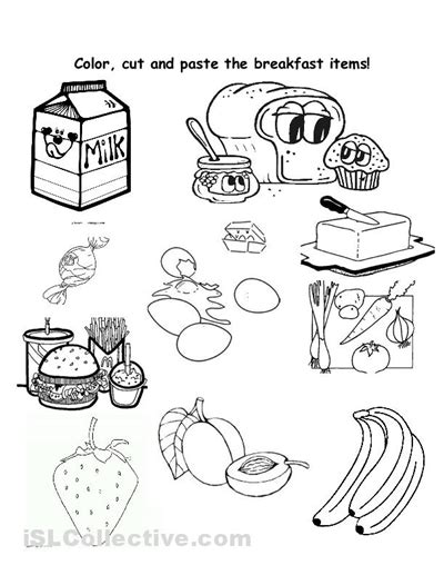 7 best images of breakfast worksheets printable healthy