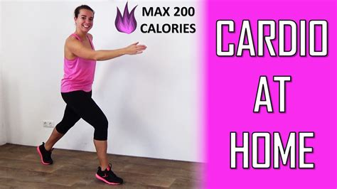 cardio workout at home 20 minute burning cardio