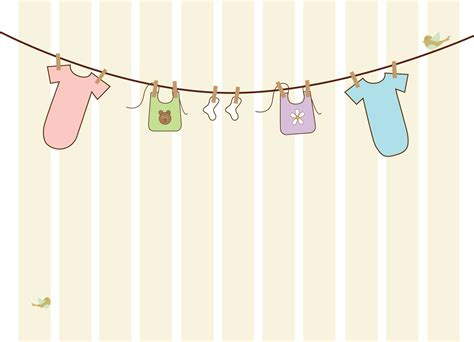 Clothesline For Baby Shower by Two Cappucinos No Sugar Biscuits Blooms