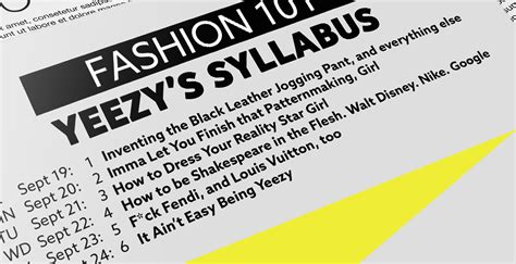 fashion design course syllabus kanye west teaches a class about fashion design obsessed