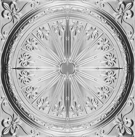 Fleur De Lis Ceiling Medallion by M Inc Embossed Metal Ceiling Medallions