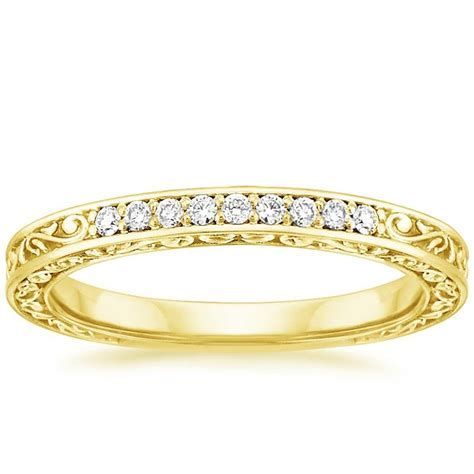Delicate Antique Scroll Ring (1/15 ct. tw.) in 18K Yellow Gold
