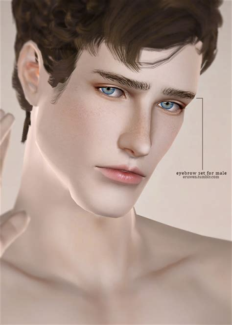 The Model Eyebrow 4 by My Sims 3 Eyebrows For Elder Males By Eruwen