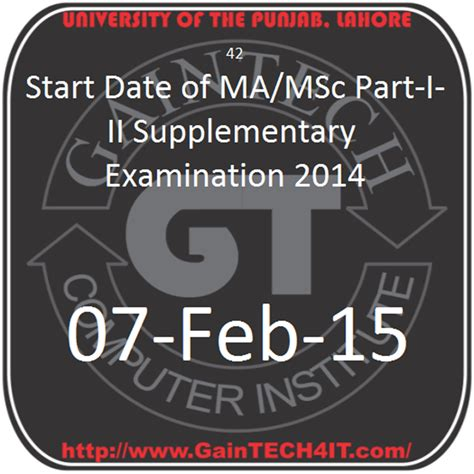 m a supplementary result 2015 start date of ma msc part i ii supplementary examination