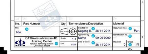 Menggambar Mesin Standar Iso title block sesuai standar iso studio menggambar mesin cad