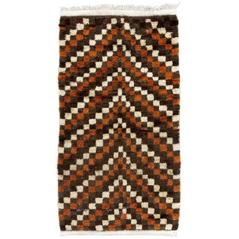 midcentury rug chequered midcentury tulu rug for sale at 1stdibs