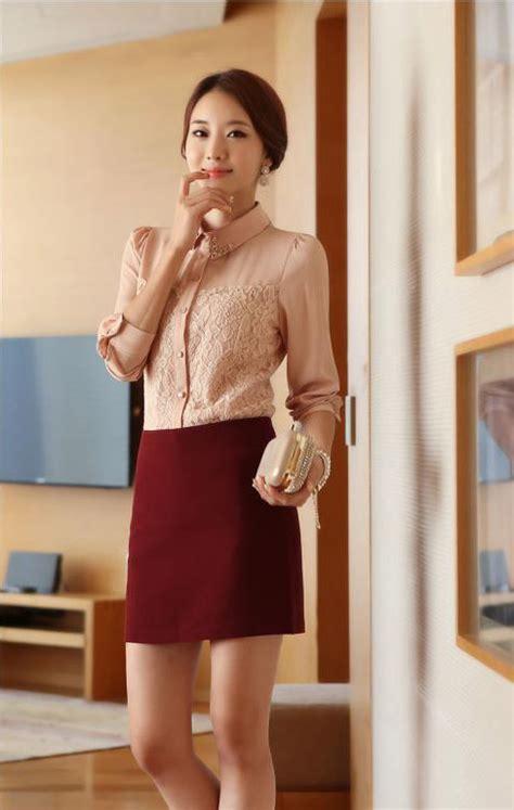 Coklat Muda kemeja wanita brokat coklat muda model terbaru jual murah import kerja