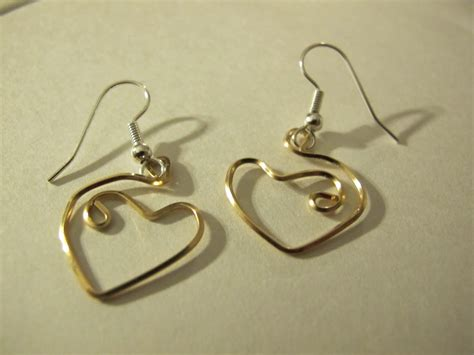 Handmade Wire Earrings Designs - s designs handmade wire jewelry gold wire wrapped
