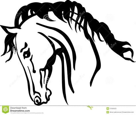 clipart cavalli testa di cavallo araba illustrazione vettoriale