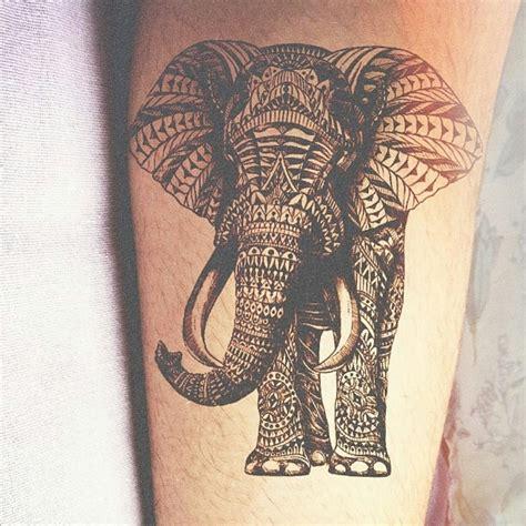aztec elephant tattoo tribal elephant