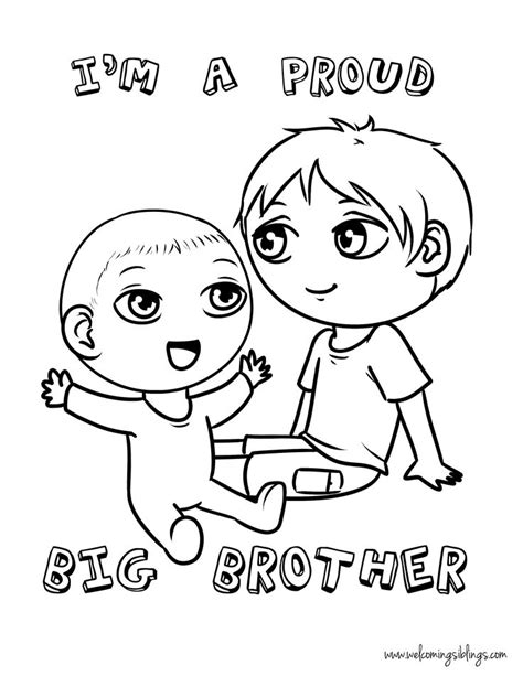 mobile big brother little sister coloring pages coloring pages