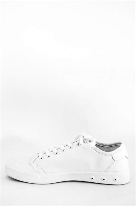 s rag and bone white leather standard issue lace up