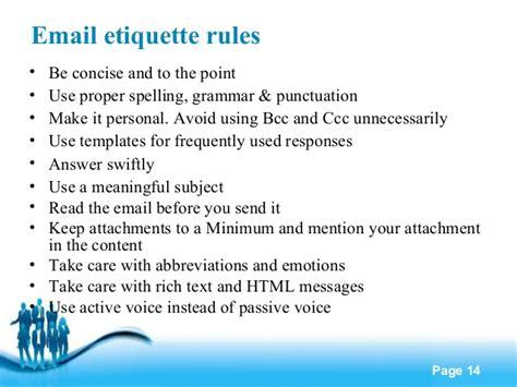 email etiquette template business etiquette