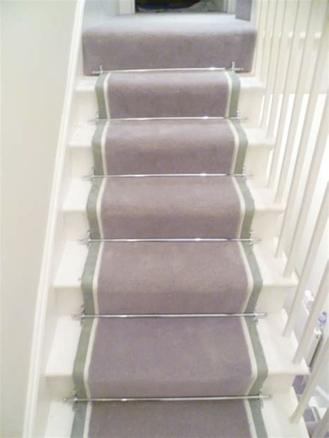 Commercial Carpet Runners by Double Tape Stair Runner With Chrome Rods Belgravia