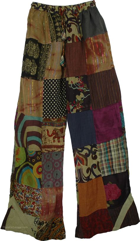 Patchwork Clothing - boho trousers cotton patchwork clearance sale on