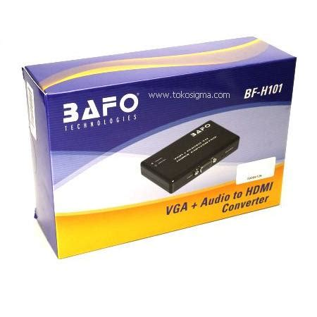 Bafo Mini Hdmi To Vga Bf 2621 bafo bf h101 vga audio to hdmi converter toko sigma