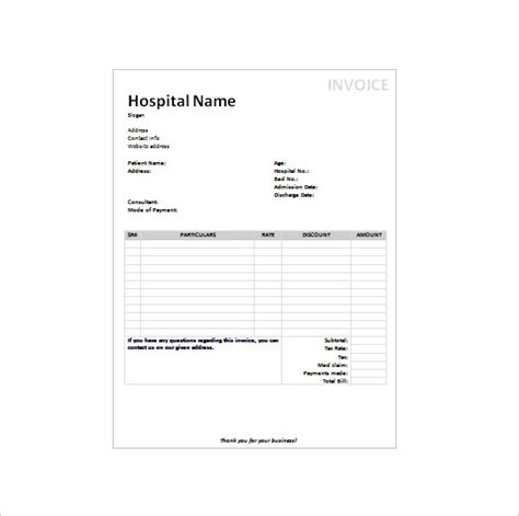 medical receipt template 12 free sle exle