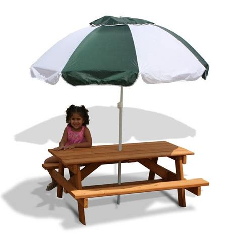 Children S Picnic Table With Umbrella by Picnic Table Benches Made Project By Wood