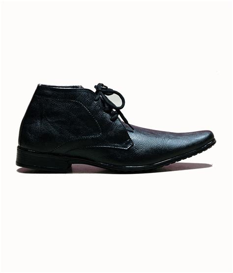 at classic black ankle length formal shoes buy